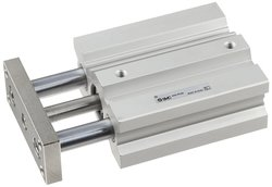 SMC Aluminum Air Cylinder with Guide Rod Plate - Size: 1/8""