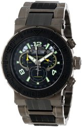 Invicta Reserve Men's Ocean Reef Swiss Master Calendar  Bracelet Black Men's