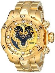 Invicta Men's 14462 Venom Analog Display Swiss Quartz Gold Watch