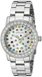 Invicta Women's 19685 Angel Analog Display Swiss Quartz Silver Watch