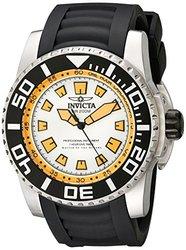 Invicta Men's Pro Diver Quartz Chrono Pu Strap Watch White Men's