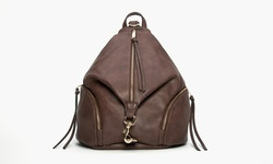 Sociology Zipper Tassel Backpack - Brown