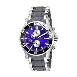 New Men's Invicta 17594 Sea Spider Chronograph Blue Dial Grey Strap Watch