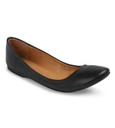Mossimo Women's Ona Scrunch Ballet Flat - Black - Size: 7