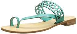 Trina Turk Women's Brentwood Toe-Ring Sandal - Aqua Suede - Size: 9.5