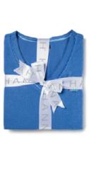 Hannah Women's Plaid Thermal Pajama Top- Blue - Size: Medium