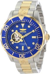 Invicta Men's Grand Diver Automatic Open Heart Stainless Bracelet Watch Blue Men's
