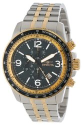 Invicta Men's Specialty Quartz Chrono Stainless Steel Bracelet Watch W/ 3dc Two-tone / Black Men's