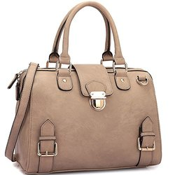 Dasein New York Preview Fall Structured Satchel Handbag - Taupe