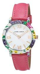 Laura Ashley Ladies Floral Bezel Watch: Pink