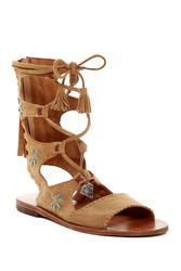 Musse & Cloud Women's Hanne Gladiator Sandal - Taupe - Size: 37