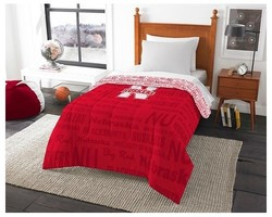 NCAA Nebraska Comforter Set - Multicolor - Size: Full