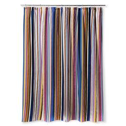 "Bedeck 1951 Ila Striped Shower Curtain - Navy Stripe - Size: 72"" x 72"""