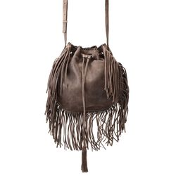 Patricia Nash Women's Caserta Drawstring Bucket Bag - Grey - Size: One