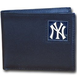 Siskiyou Men's New York Yankees MLB Bi-fold Wallet - Black - Size: One