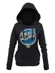 NFL Women's Carolina Panthers Super Bowl Sweatshirt - Black - Size: S