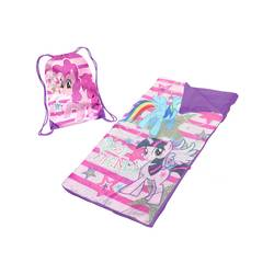 My Little Pony Kids Slumber Set with Sling Carry Bag - Pink