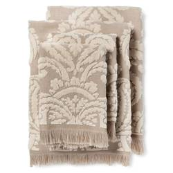 Fable Montfort Textured Bath Towel Set of 4 - Linen - Size: One