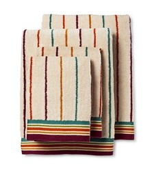 Bedeck 1951 Ila Striped Bath Towel Set of 4 - Magenta