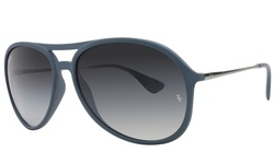 Ray-Ban Unisex Alex Sunglasses - Blue Frames/Gray Lens - Size: 59mm