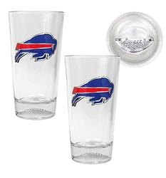 Buffalo Bills 2-pc Pint Ale Glass Set with Football Sculpted Base