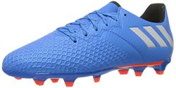 adidas Performance Kids' Messi 16.3 Firm Ground Soccer Cleats, Shock Blue/Matte Silver/Black, 2.5 M US Little Kid