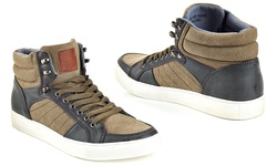 Franco Vanucci Men's Lace Up High Top Sneakers 2156 - Green - Size: 11.5