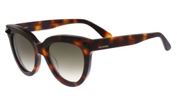 Valentino Women's Stud Cat Eye Sunglasses - Brown Frame/Brown Lens