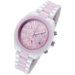 Rougois Women's Two-Tone Pink High Tech Ceramic Swiss Chronograph Watch