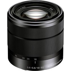 Sony Alpha SEL1855 E Mount F3.5-5.6 OSS Lens - Black - Size: 18-55mm