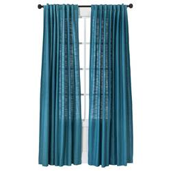 "Threshold Natural Core Solid Curtain Panel - Blue - Size: 54""x95"""
