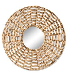"Mudhut Decorative Wall Mirror - Size: 28"""