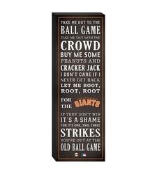 """San Francisco Giants """"Take Me Out To The Ballgame"""" Canvas"""