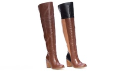 Tall Patchwork Boot    L6052-27    Cognac    8.5