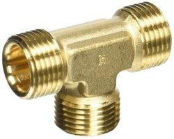 Legris Compression Union Tee Tube - Brass - Size: 12mm (0104 12 00)