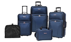 Travelers Choice Versatile 5-Piece Luggage Set - Blue
