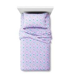 Circo Butterfly Flannel Sheet Set - Purple - Size: Twin