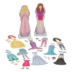 KidKraft Magnetic Fashion & Fairytale Dress Up Doll