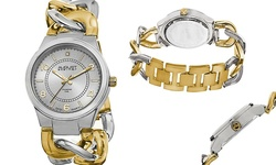 August Steiner Women's Chain-Link Bracelet Watch - Gold/Silver