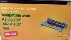 Staples SFP-35C Replacement Fax Ribbon Cartridge - Black (KX-FA135)