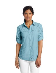 Columbia Women's Insect Blocker Long Sleeve Shirt - Bluetime - Size: Small