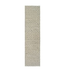 "Threshold Chevron Runner Table Cover - Natural - Size: 1'10"" x 7'"