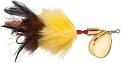 Blue Fox Vibrax Super Bou TW 8 Fishing Lure - Yellow Brown - Size: 7-3/4""