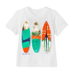 Cherokee Boy's Printed T-Shirt - White - Size: 2T