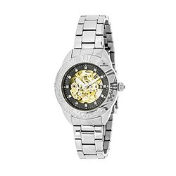 Empress Godiva Ladies Watch: Em1102 Silver Band-black Dial