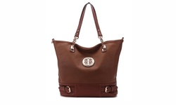 MKF Collection Jules Ornate Tote Handbag -  Brown