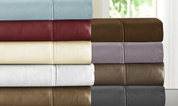 Addy Home T800 100 Egyptian Cotton 4pc Sheet Sets - Wheat - Size: King