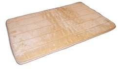 Deluxe Quilted Fur Throw: Latte/large