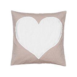 """Levtex Heart Throw Pillow - Tan - Size: 20""""x20"""""""
