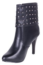 Women Ankle Boots: Zipper With Studs/9